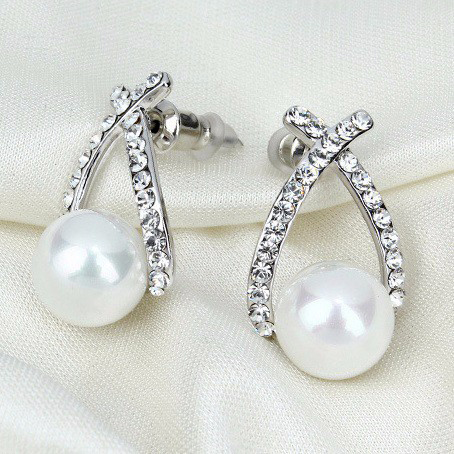 Náušnice s imitáciou perly - FashionGate.sk 7601645e601