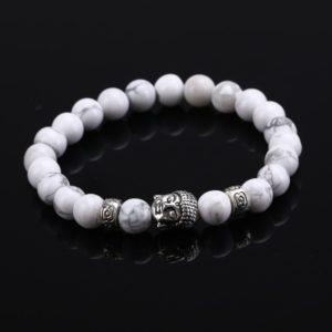 Náramok s podobizňou Budhu a prírodným kameňom