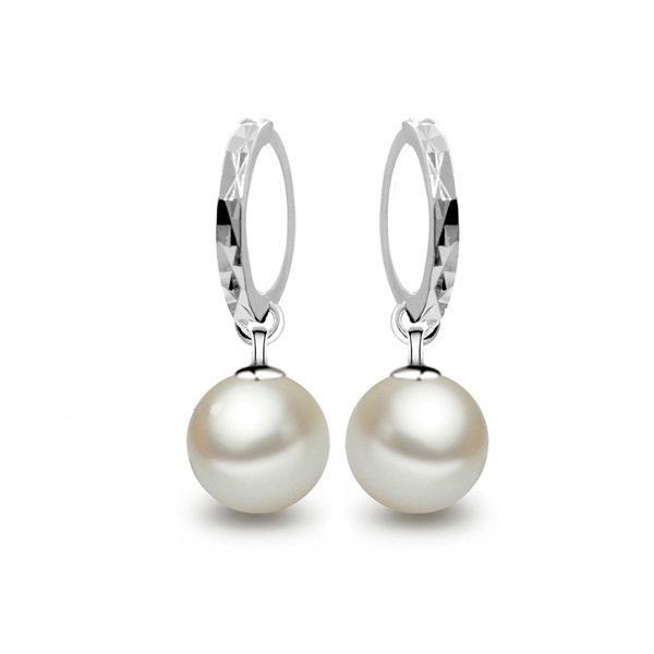 Vysiace náušnice s perlami