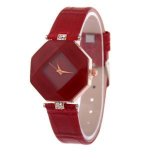 Štýlové dámske červené hodinky