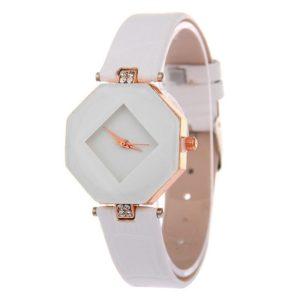 Štýlové dámske biele hodinky