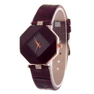 Štýlové dámske bordové hodinky