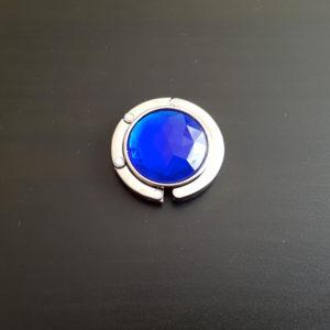 Modrý hák na zavesenie kabelky