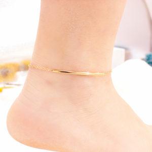 Plážová zlatá retiazka na nohu