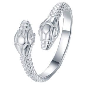 Prsteň v dizajne hada s dvomi hlavami