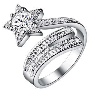 Prsteň s hviezdou a kryštálom