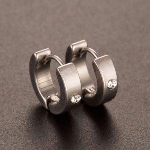 Kruhové náušnice z nehrdzavejúcej ocele a kryštálom
