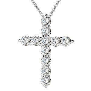 Retiazka s krížikom a 11 kryštálmi