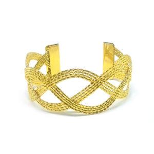 Hrubý zlatý prepletaný náramok