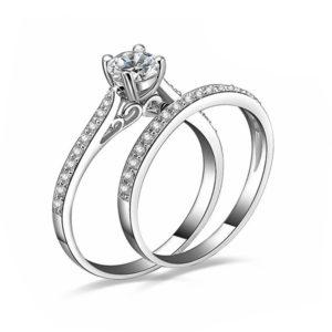 Set prsteňov s kryštálom pre ženu a muža