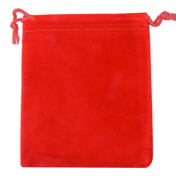 Zamatové vrecko na šperky - červené