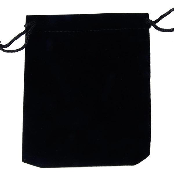 Zamatové vrecko na šperky - čierne