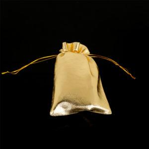 Látkové vrecko na šperky - zlaté
