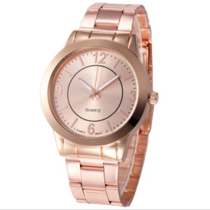 Dámske elegantné bledoružové hodinky
