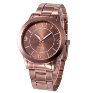 Dámske elegantné tmavoružové hodinky