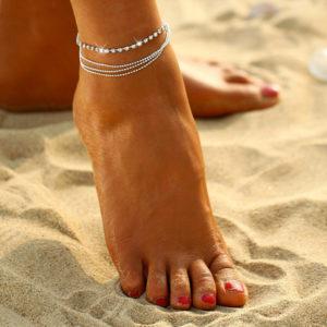 Štýlová 4-dielna retiazka na nohu