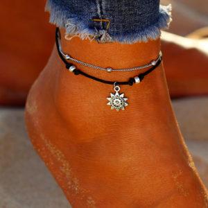 Dvojitá retiazka na nohu so slniečkom