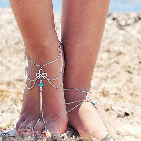 Viacvrstvová retiazka na nohu a prst