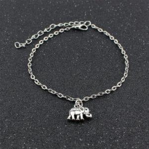 Retiazka na nohu so slonom