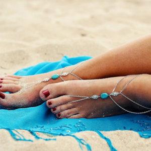 Ozdobná retiazka na nohu a prst