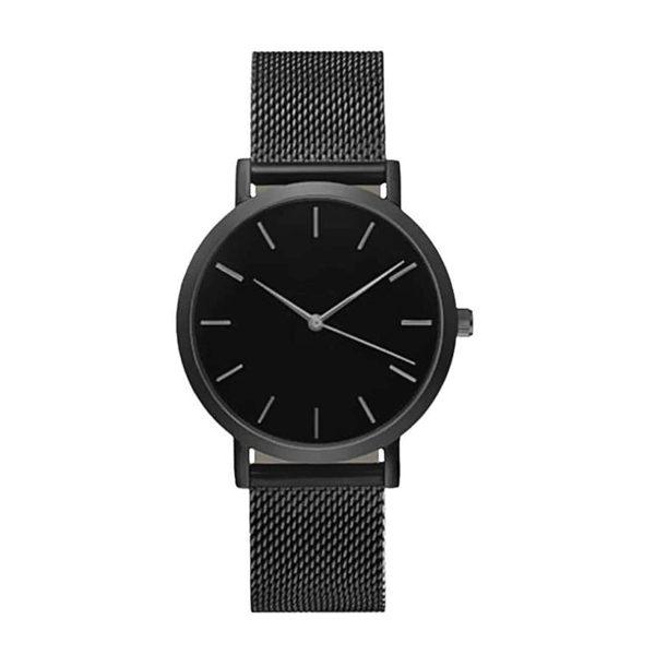 Tmavosivé hodinky z nehrdzavejúcej ocele
