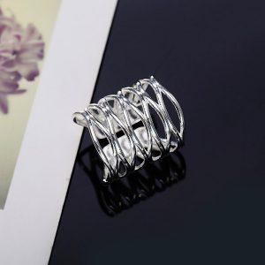 Trendový široký prsteň