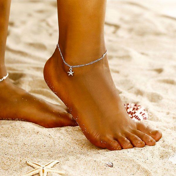 Retiazka na nohu s hviezdicou