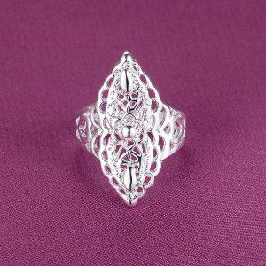 Veľký ornamentový štýlový prsteň