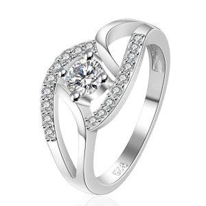 Štýlový prsteň so zirkónom