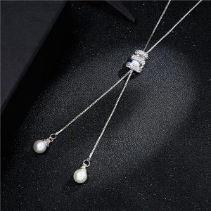 Dlhá retiazka s dvoma perlami