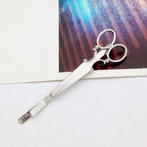Nožničky - spona do vlasov strieborná