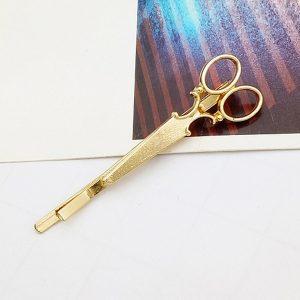 Nožničky - spona do vlasov zlatá