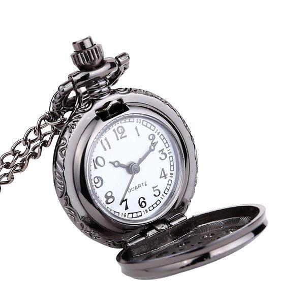 Retiazkové otváracie hodinky čierne