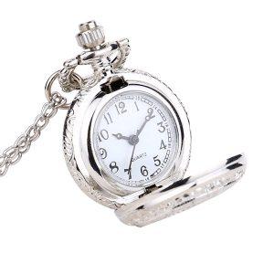 Retiazkové otváracie hodinky strieborné