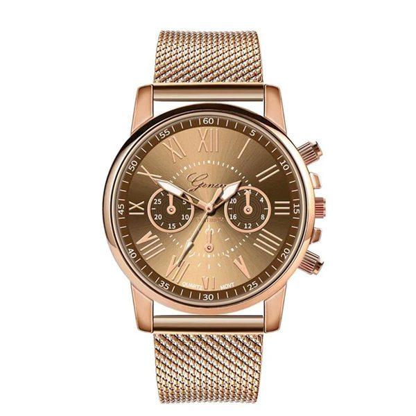 Dámske elegantné hodinky vo farbe kávy