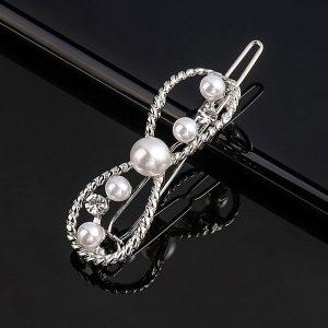 Osmička s perlami - strieborná