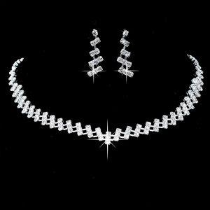 Luxusný set náhrdelník a náušnice s kryštálmi