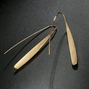 Dlhé visiace náušnice - zlaté